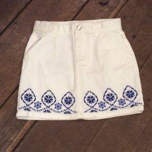 Gymboree Sparkle Safari Jean Skirt NWOT Size 7